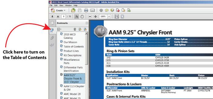 Differential Repair and Upgrade Parts Catalog