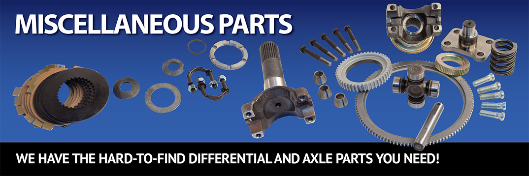 Differential and Axle Parts Yokes Flanges Posi Clutches Seals U Bolts Straps Tone Rings Axle bolts
