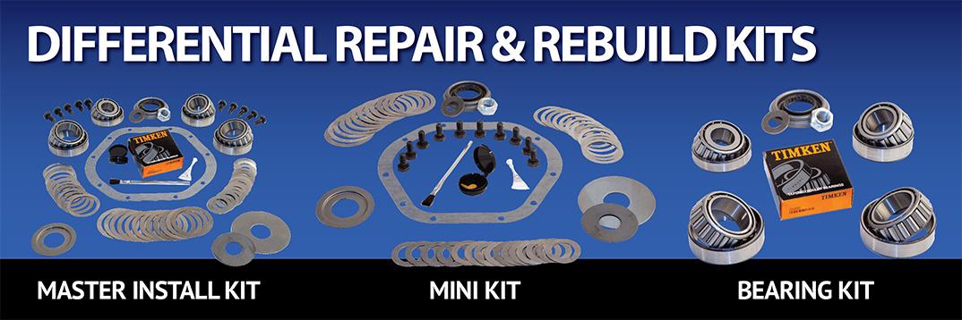 Differential Rebuild Install Repair Kits including Master Kit Mini Kit Bearing Kit Pinion Kit and Spider Gear Kit