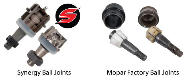 Synergy Ball Joints vs. Factory Parts