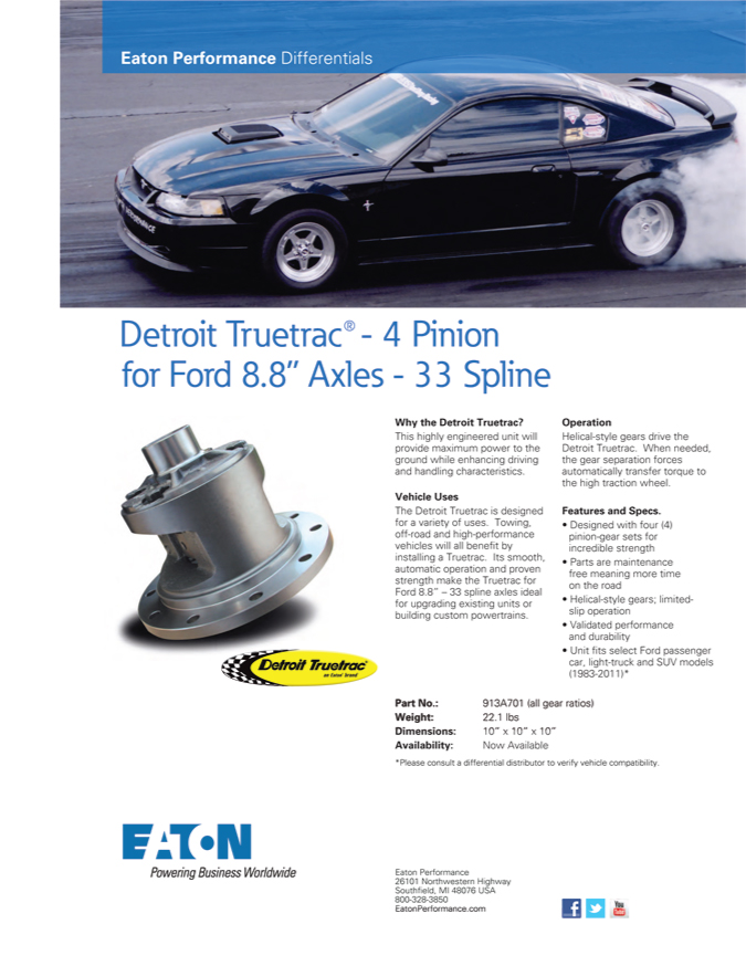 Ford 8.8 Truetrac - Eaton Performance Differentials