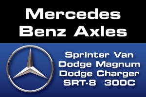 Differential & Axle Parts for Sprinter, SRT-8, Magnum and Charger, 300C vehicles with Mercedes Benz Axle Assemblies including MB215