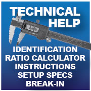 Differential Repair-Gear Ratio Calculators-setup specs-installation Instructions
