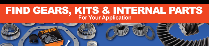 Differential Parts, Ring and Pinion Gears, Installation Kits, Carriers, Spider Gears and Bearings