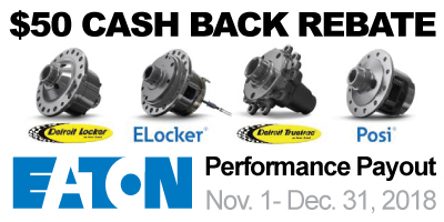 Eaton Differential Rebate Detroit Locker ELocker Truetrac Posi Cash Back