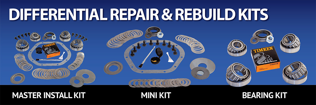 Differential Rebuild Install Repair Kits including Master Kit Mini Kit Bearing Kit Pinion Kit and Spider Gear Kit