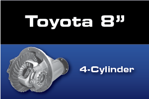 Toyota 8 Inch 4 Cylinder Differential Parts - Gears, Axles, Ring Pinion, Kits, Spider Gears