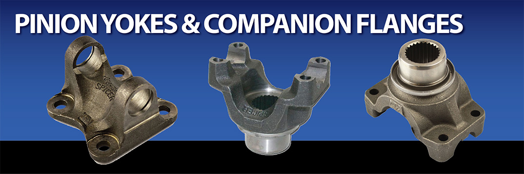 Differential Rear End and Axle Pinion Yokes including companion flange Yoke