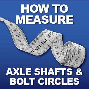 Axle Length, Axle Splines, Brake Offset, Bolt Circle