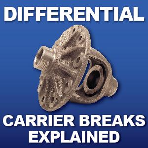 Rear End Carrier Breaks Brakes High Low Ratio Carrier