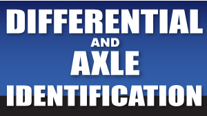 Differential Identification | West Coast Differentials