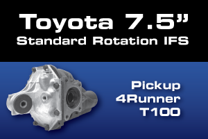 Toyota 7.5 Inch Front Differential Parts - Gears, Axles, Ring Pinion, Kits, Spider Gears