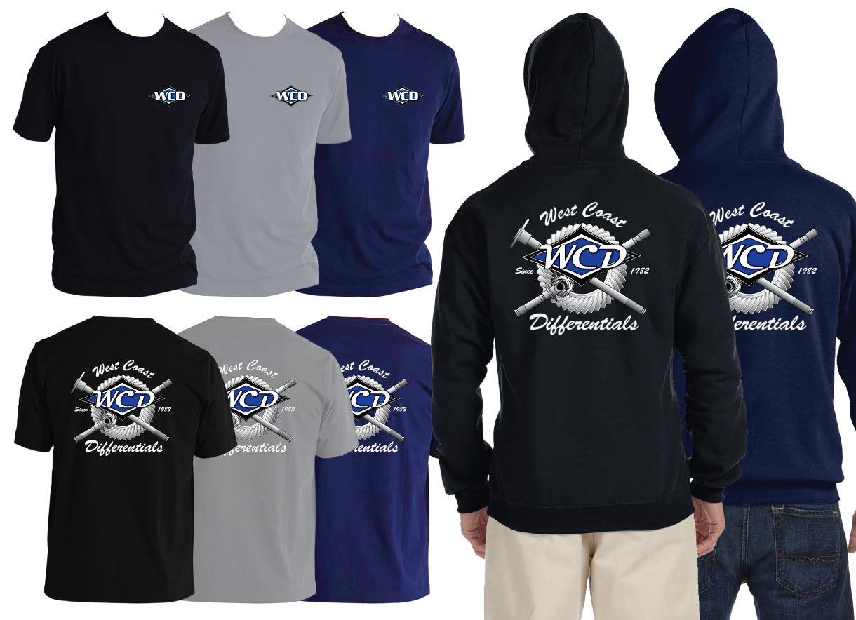 WCD West Coast Differential Tee Shirts Hoodies